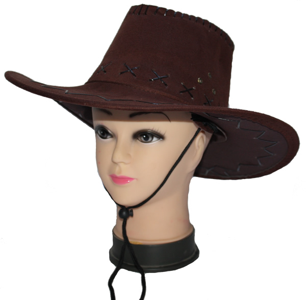 Cowboy, velúr kalap, barna