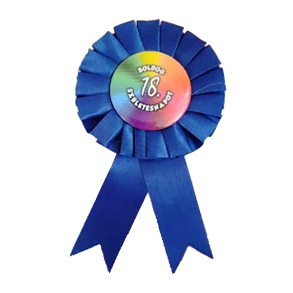 Kitűző, kék, Boldog 18. születésnapot