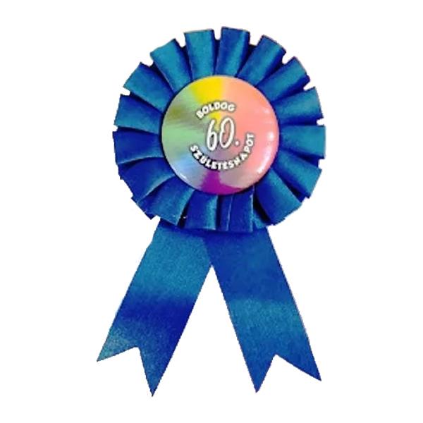 Kitűző, kék, Boldog 60. születésnapot