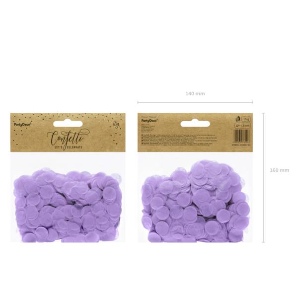 Konfetti 15 g, halvány lila