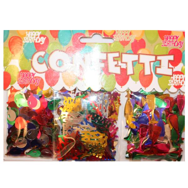 Fényes konfettin, 3 csomag/szett