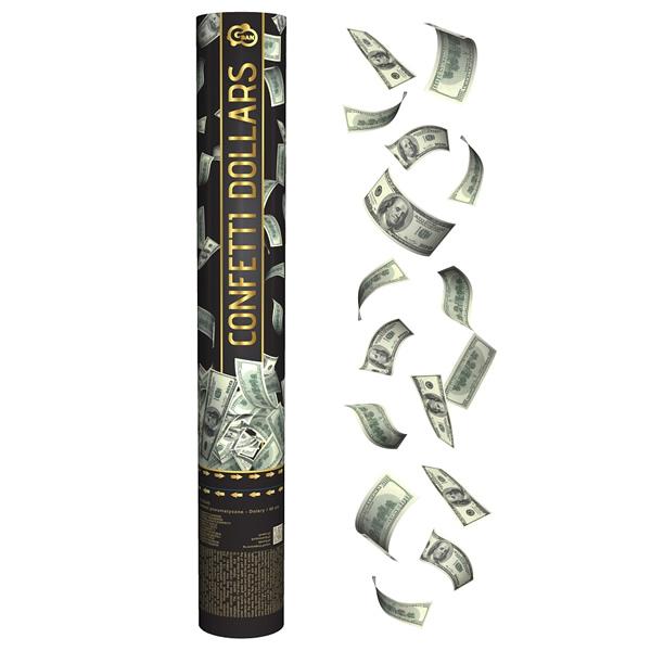 Dollár formájú konfetti kilövő, 40 cm