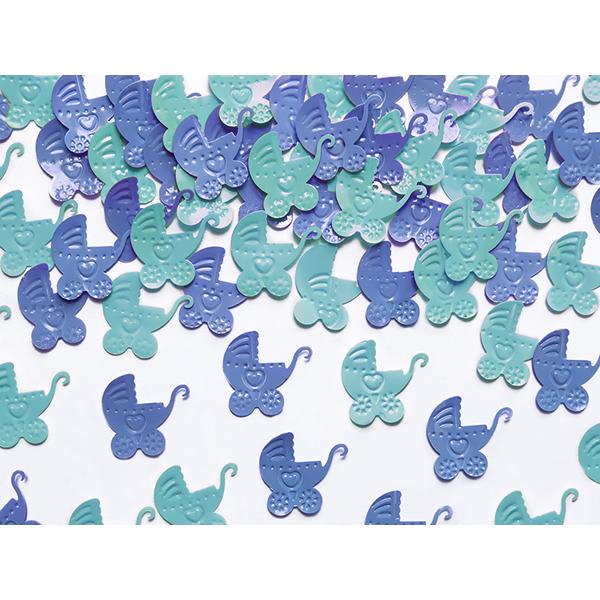 Babakocsi konfettin, kék és ég kék színekben 15gr