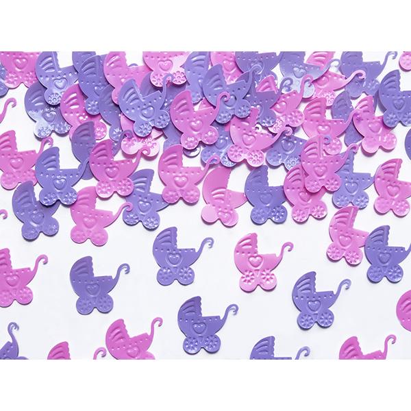 Babakocsi konfettin, pink és ibolya színekben 15gr