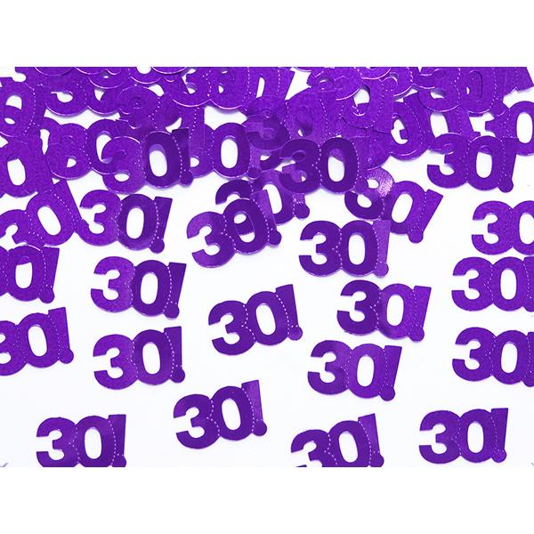 Konfetti, metál lila, 30-as, 15gr/csomag