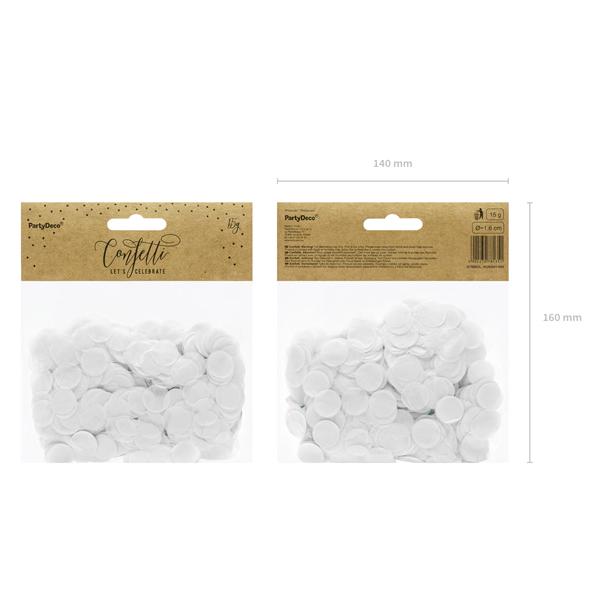 Konfetti 15 g, fehér