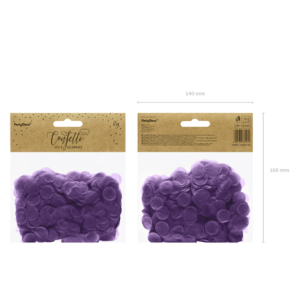 Konfetti 15 g, lila