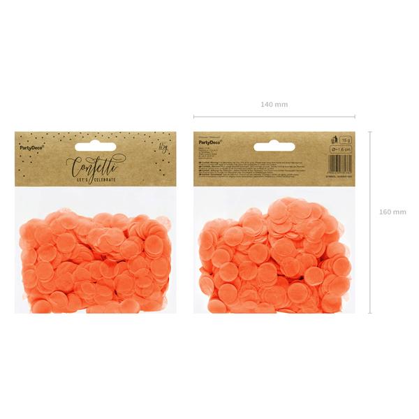 Konfetti 15 g, narancs