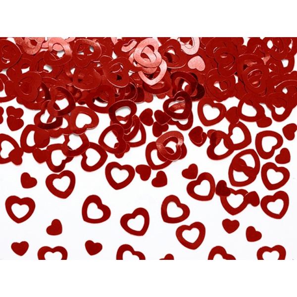Konfetti, szív forma, piros, 15 g