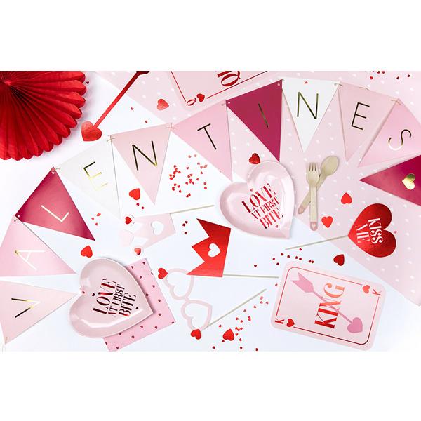 Konfetti, szív forma, piros, mm, 10 g