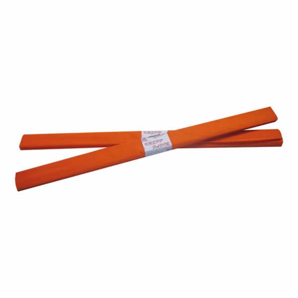Krepp-papír, narancs, 50*200