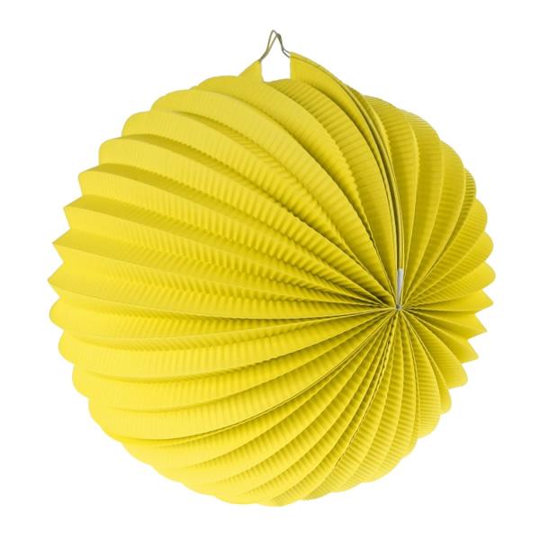 Gömb lampion, 25 cm, citrom