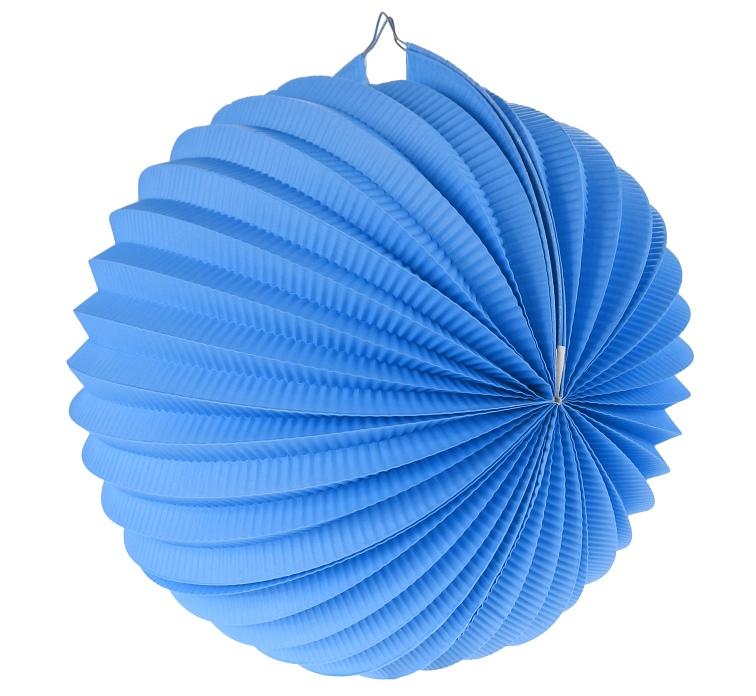 Gömb lampion, 25 cm, kék