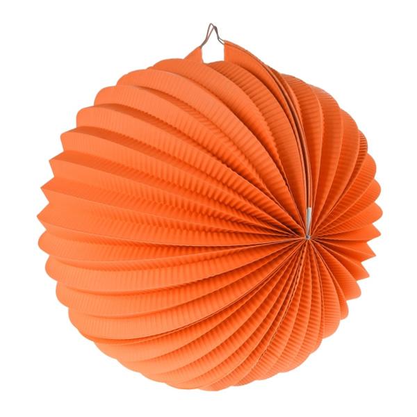 Gömb lampion, 25 cm, narancs