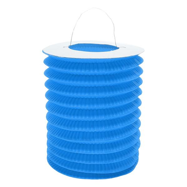 Harmonika lampion, 15 cm, kék