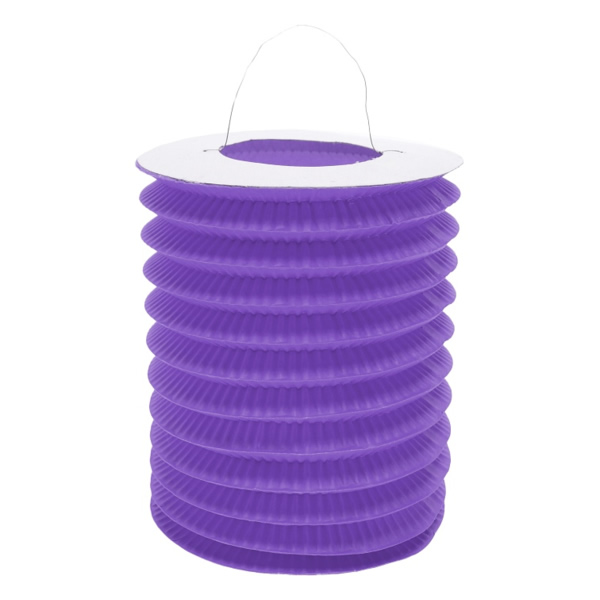 Harmonika lampion, 15 cm, lila