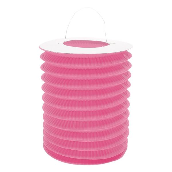 Harmonika lampion, 15 cm, pink