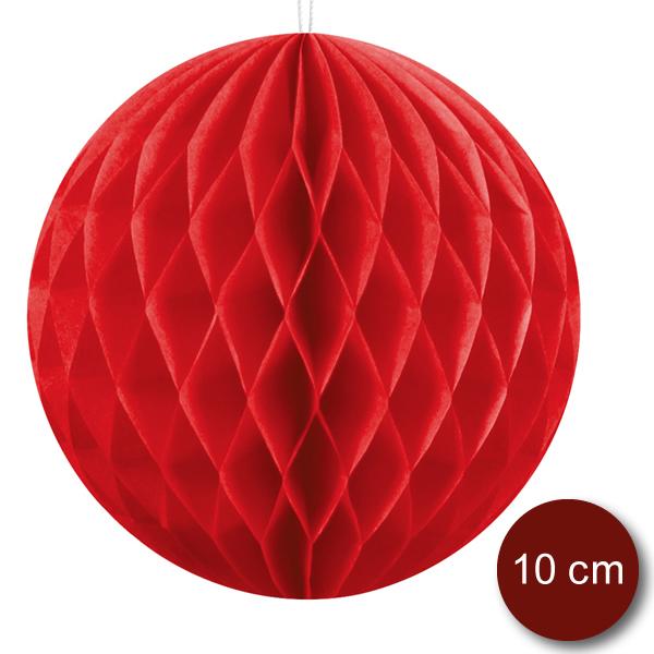 Gömb lampion 10 cm,  piros