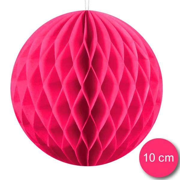 Gömb lampion 10 cm,  dark pink