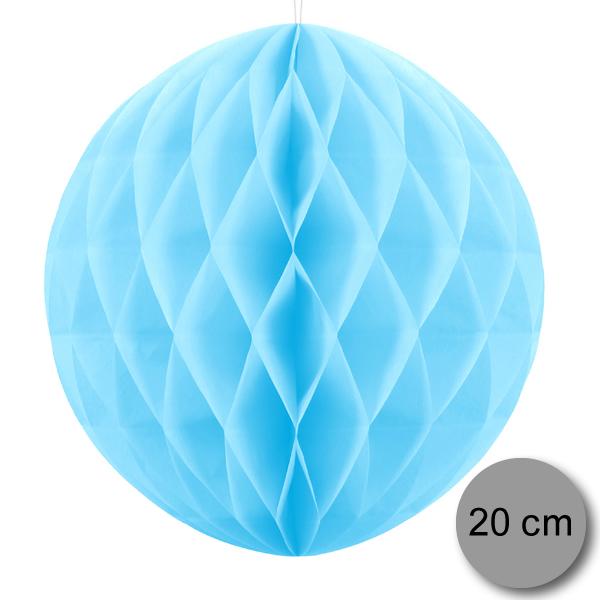 Gömb lampion 20 cm,  égkék