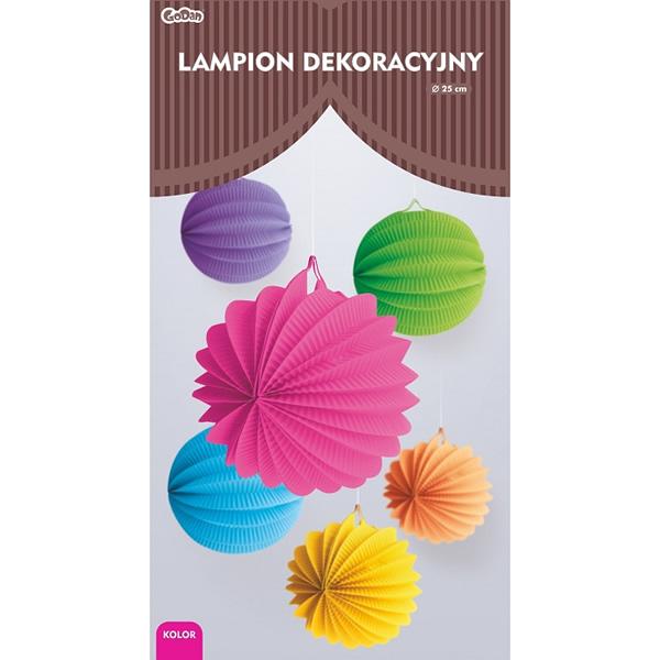 Gömb lampion, 25 cm, pink