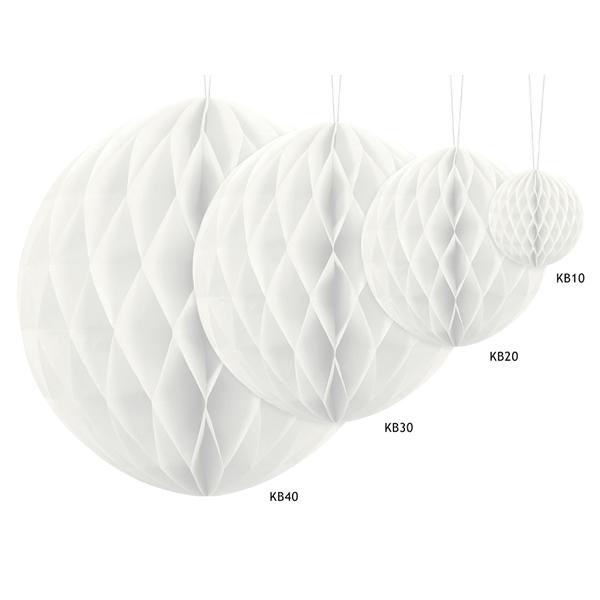 Gömb lampion 30 cm,  fehér