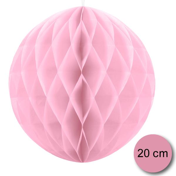 Gömb lampion,  light pink, 20cm