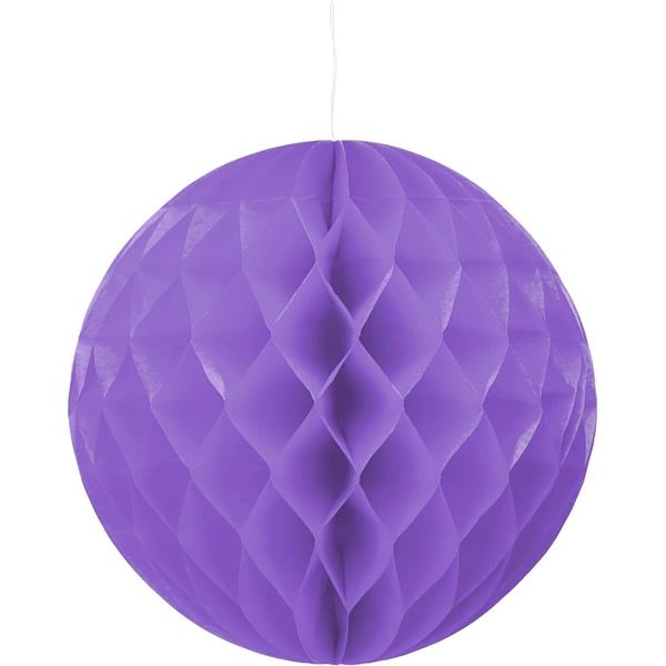 Gömb lampion 30 cm,  lila