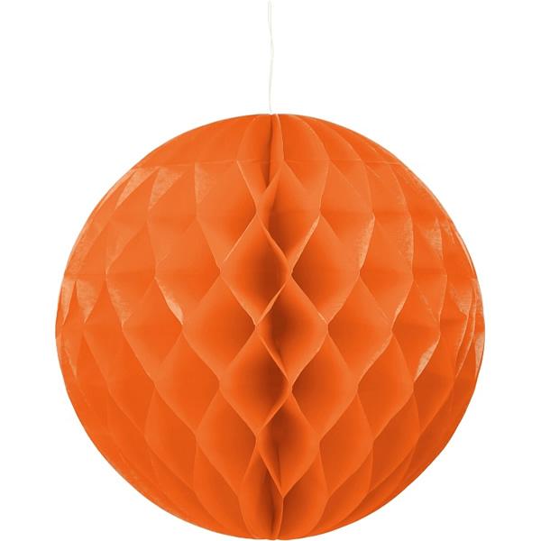 Gömb lampion 30 cm,  narancs