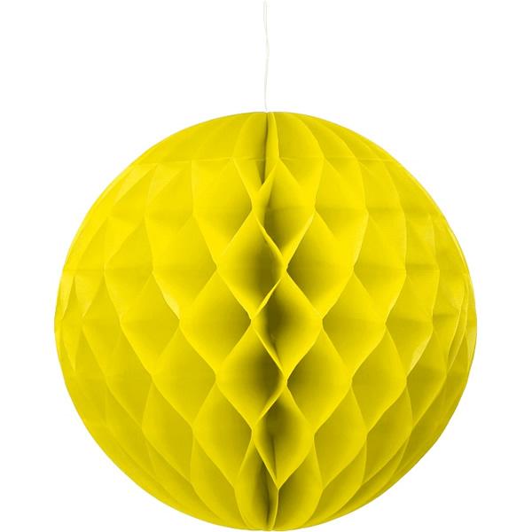 Gömb lampion 30 cm,  sárga