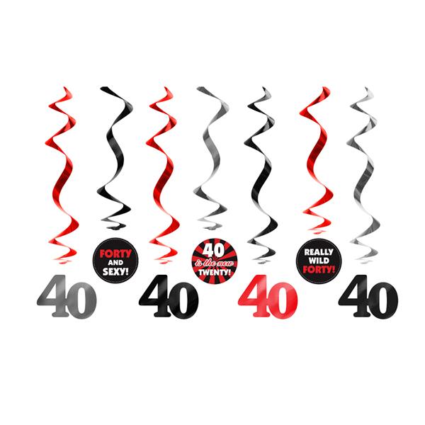 Spirál 40. születésnapra, 7db/csomag