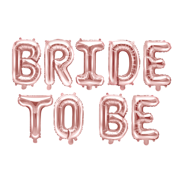 Bride to be, fólia lufi, pezsgő