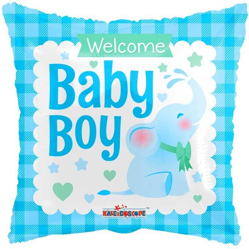 Fólia lufi, welcome baby boy, 18
