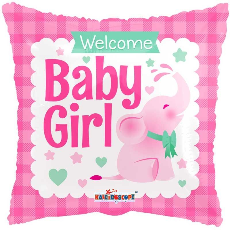 Fólia lufi, welcome baby girl, 18