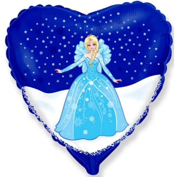 Hercegnős, Elsa Fólia lufi. 45 cm