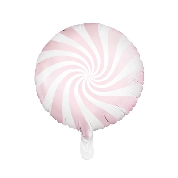 Világos pink csíkos fólia lufi, 18