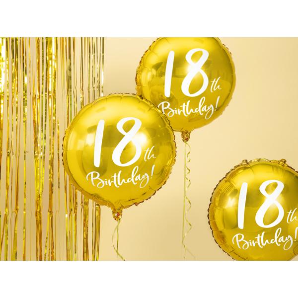 18. Évszámos lufi, fólia, arany, hb