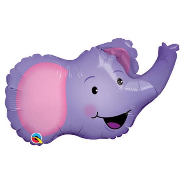Fólia lufi, mini forma, fej, elefánt
