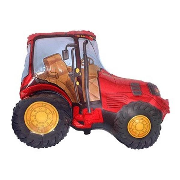 Fólia lufi, mini forma, piros traktor