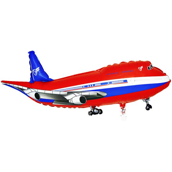 Fólia lufi, mini forma, repülő, piros, kb.30-35cm