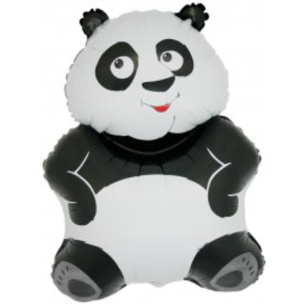 Fólia lufi,  mini forma, panda, 33 cm