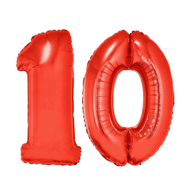 10-es piros szám fólia
