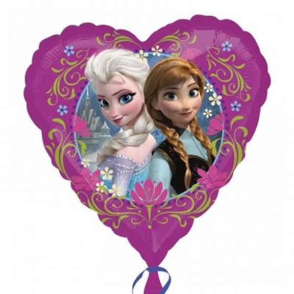 Frozen, fólia lufi, szív, 17