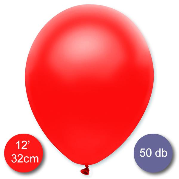 Lufi (metál) piros, 32cm, 100 db/cs