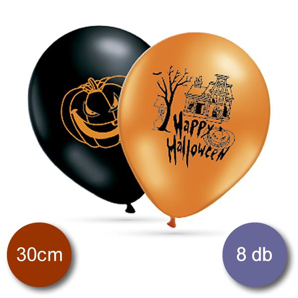 Lufi, Happy Halloween, (fekete-narancs)  10 db/cs