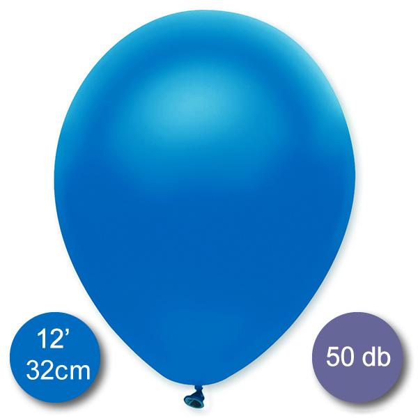 Lufi (metál) kék, 32cm, 100 db/cs