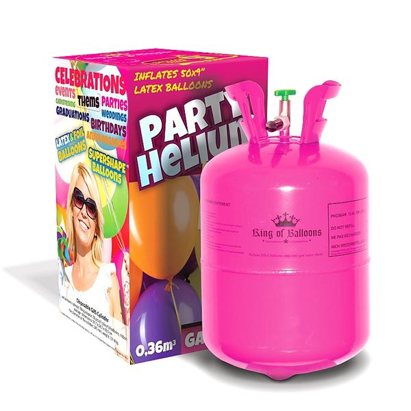 Hélium palack 50 léggömb felfújására + 50 pasztel léggömb