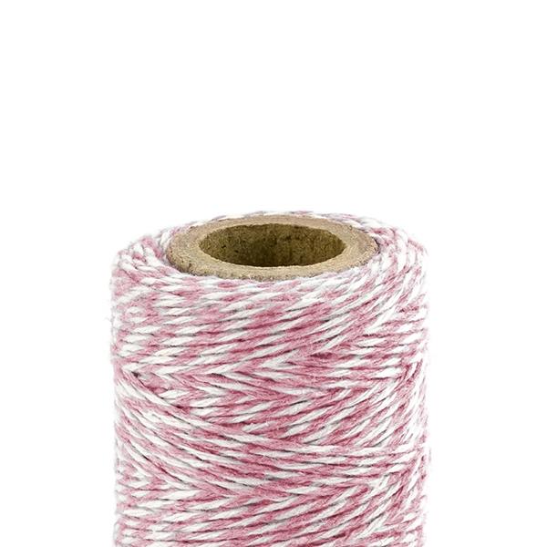 Bakers (Pék) zsineg, rózsaszín-fehér, 50m