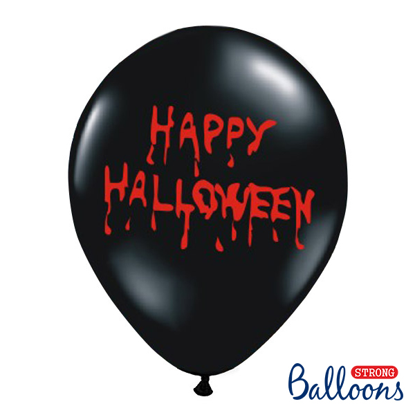 Lufi, fekete, Happy Halloween , 5 db/cs