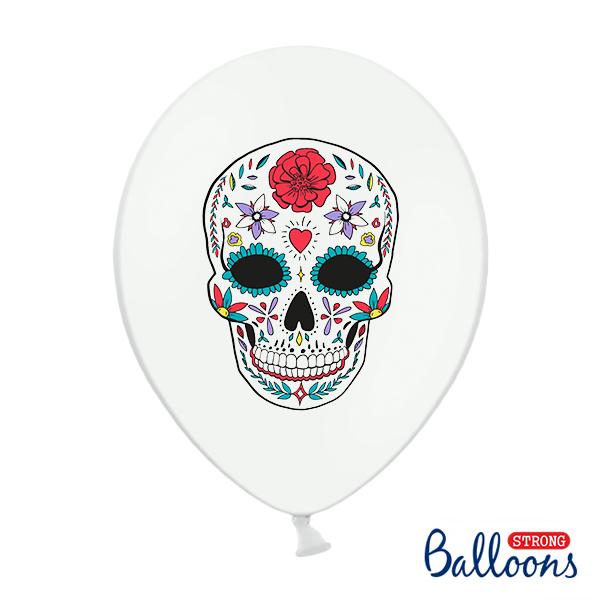 Lufi, fehér, Dia de los Muertos, 5 db / csomag
